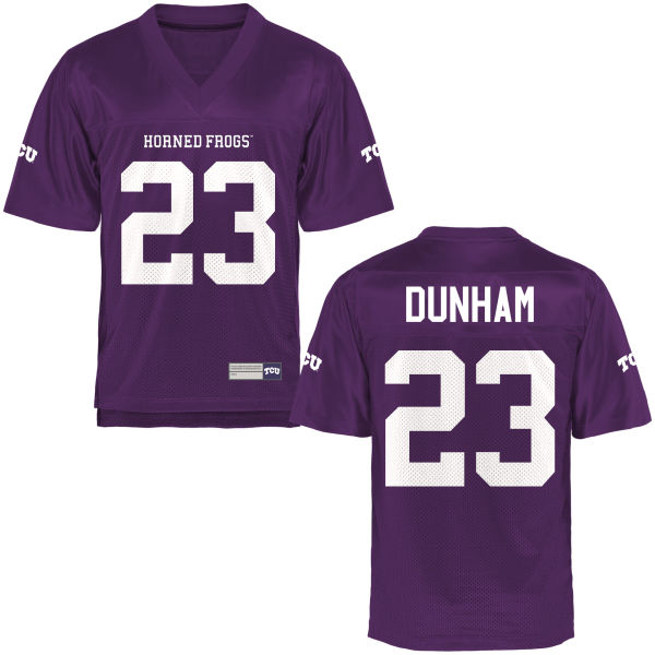 Men's Alec Dunham TCU Horned Frogs Replica Purple Football Jersey