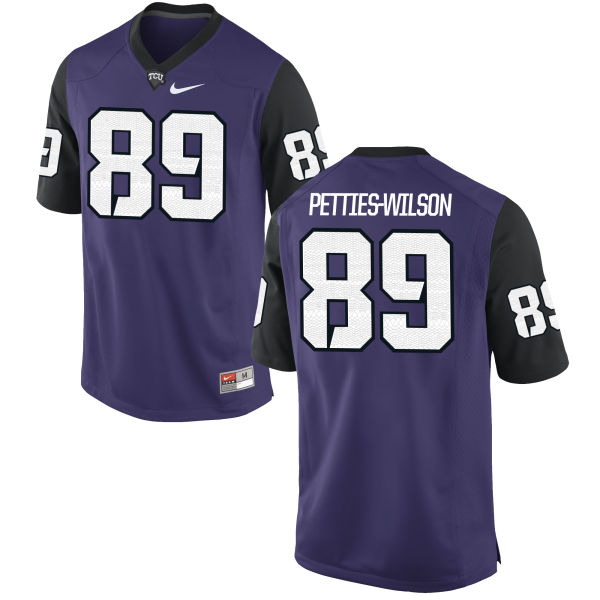 Men's Nike Andre Petties-Wilson TCU Horned Frogs Replica Purple Football Jersey
