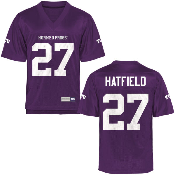 Men's Brandon Hatfield TCU Horned Frogs Game Purple Football Jersey
