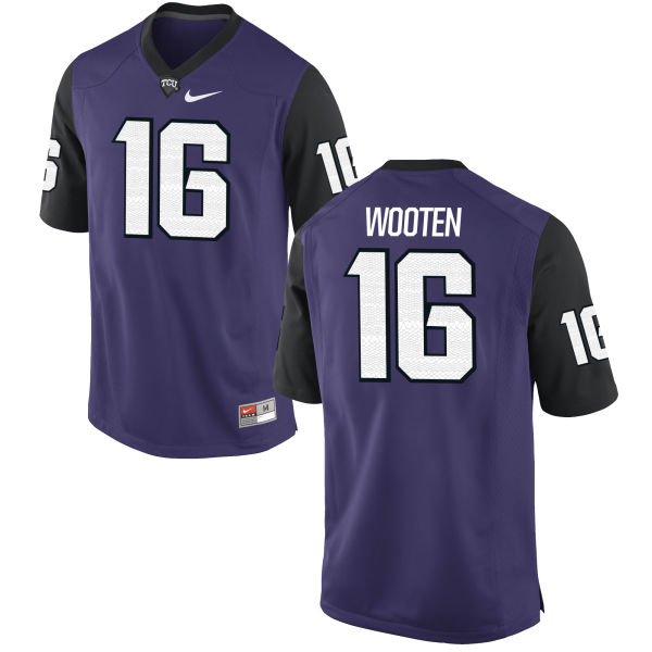 Men's Nike Brennen Wooten TCU Horned Frogs Authentic Purple Football Jersey