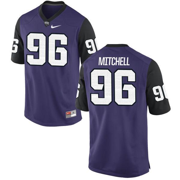 Men's Nike Breylin Mitchell TCU Horned Frogs Game Purple Football Jersey