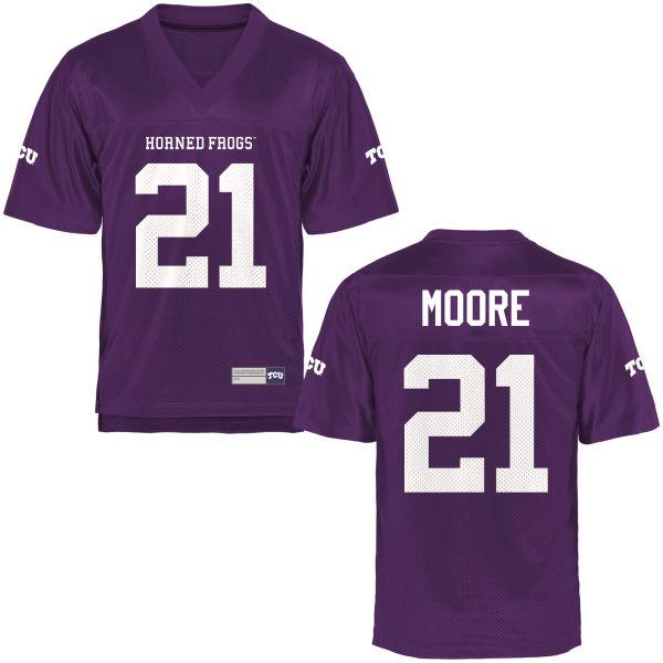 Men's Caylin Moore TCU Horned Frogs Replica Purple Football Jersey