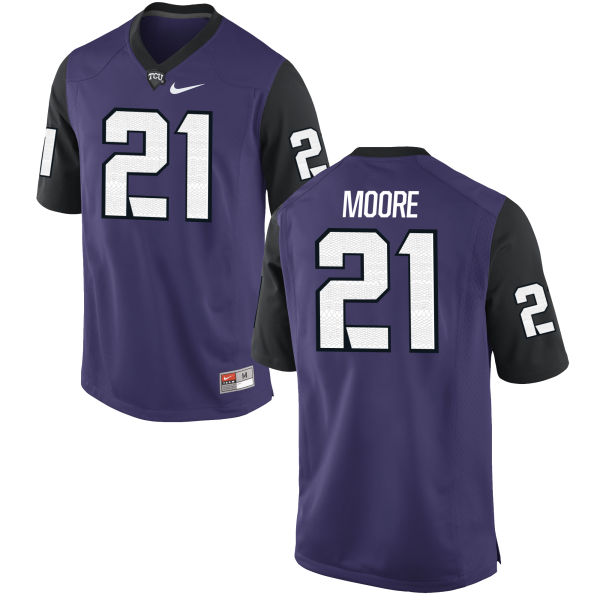 Men's Nike Caylin Moore TCU Horned Frogs Replica Purple Football Jersey