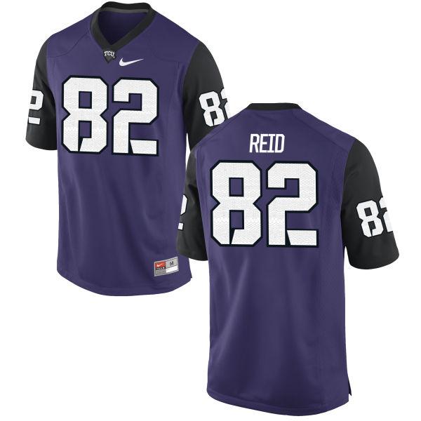 Men's Nike Charlie Reid TCU Horned Frogs Replica Purple Football Jersey