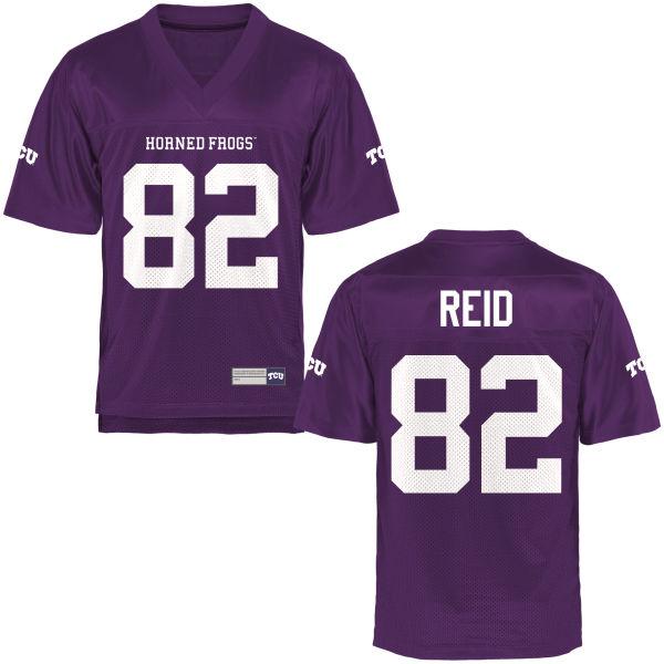 Men's Charlie Reid TCU Horned Frogs Game Purple Football Jersey