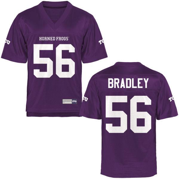 Men's Chris Bradley TCU Horned Frogs Game Purple Football Jersey