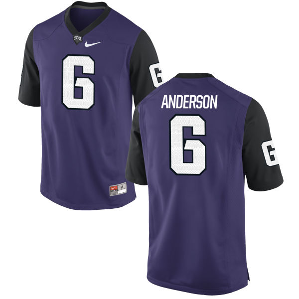 Men's Nike Darius Anderson TCU Horned Frogs Replica Purple Football Jersey