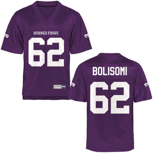 Men's David Bolisomi TCU Horned Frogs Game Purple Football Jersey