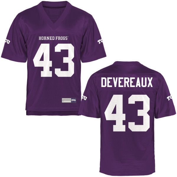 Men's Davis Devereaux TCU Horned Frogs Authentic Purple Football Jersey