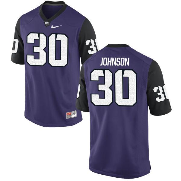 Men's Nike Denzel Johnson TCU Horned Frogs Replica Purple Football Jersey