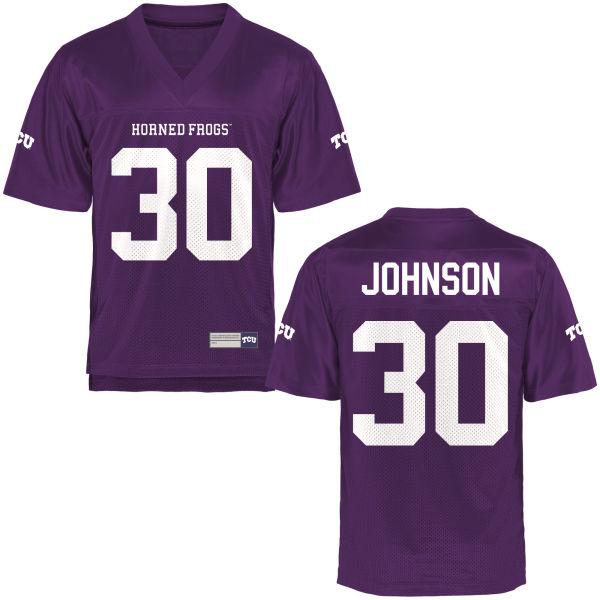 Men's Denzel Johnson TCU Horned Frogs Game Purple Football Jersey