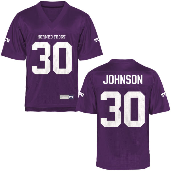 Women's Denzel Johnson TCU Horned Frogs Game Purple Football Jersey