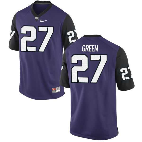 Men's Nike Derrick Green TCU Horned Frogs Authentic Purple Football Jersey