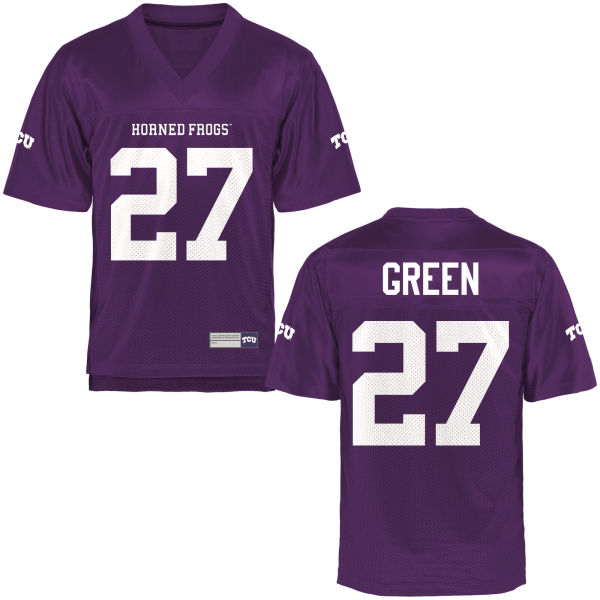 Men's Derrick Green TCU Horned Frogs Game Purple Football Jersey