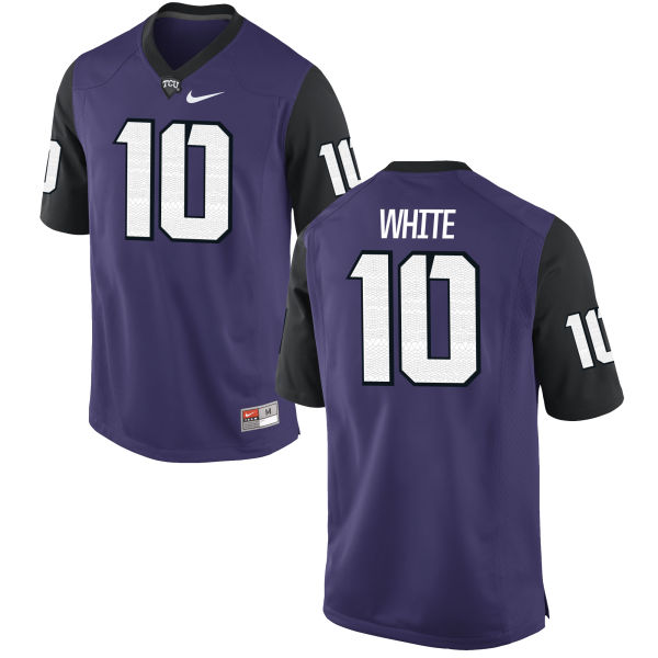 Men's Nike Desmon White TCU Horned Frogs Authentic Purple Football Jersey