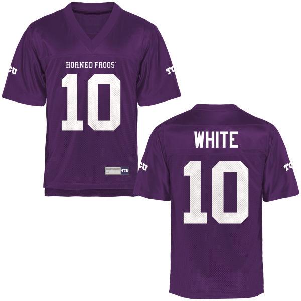 Men's Desmon White TCU Horned Frogs Game Purple Football Jersey