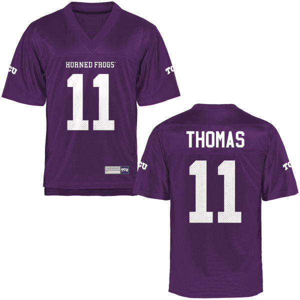Youth Dylan Thomas TCU Horned Frogs Authentic Purple Football Jersey
