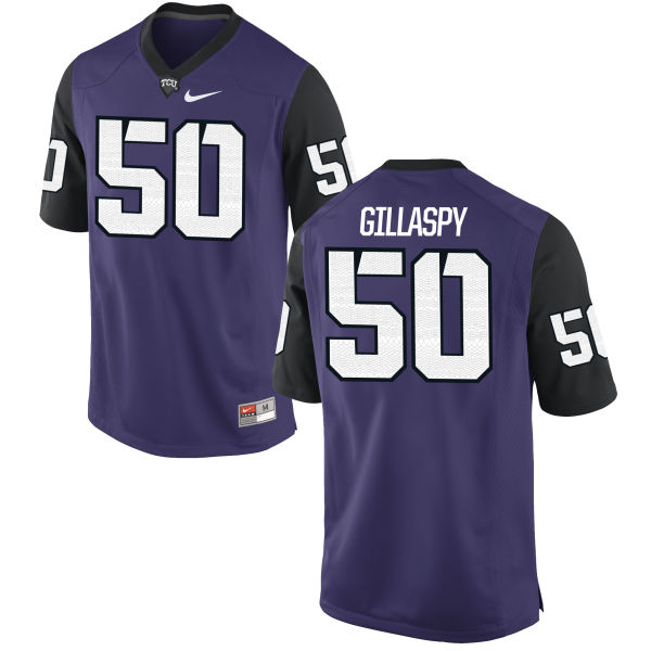 Men's Nike Harrison Gillaspy TCU Horned Frogs Replica Purple Football Jersey