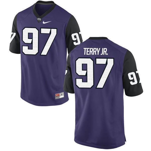 Men's Nike James Terry Jr. TCU Horned Frogs Replica Purple Football Jersey
