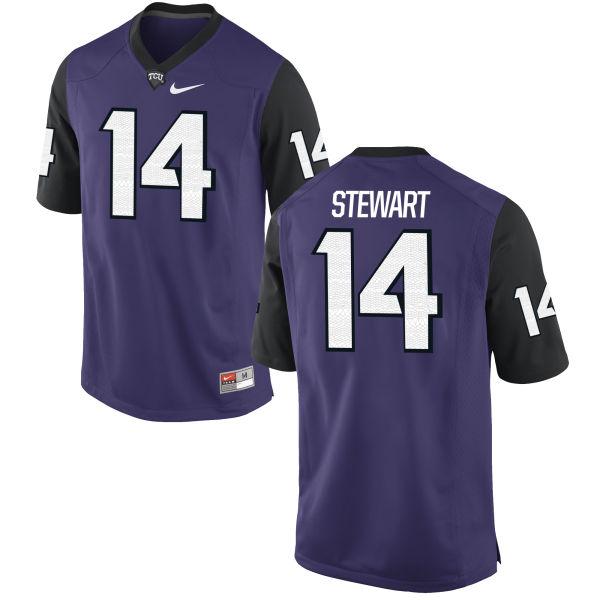 Men's Nike Jarrison Stewart TCU Horned Frogs Replica Purple Football Jersey