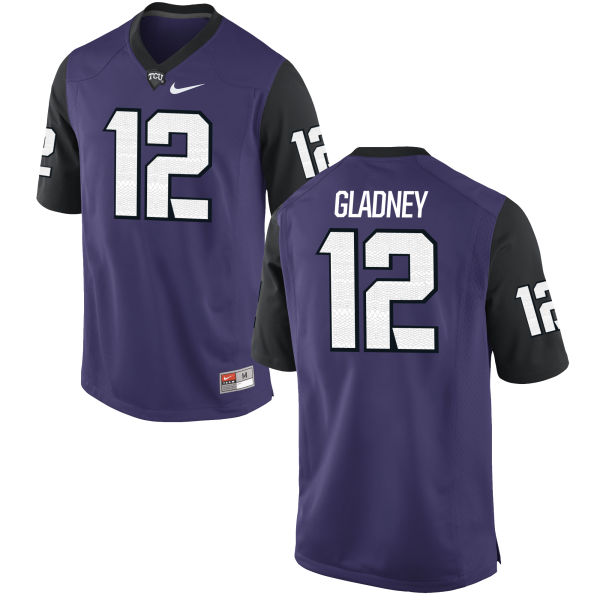 Men's Nike Jeff Gladney TCU Horned Frogs Replica Purple Football Jersey