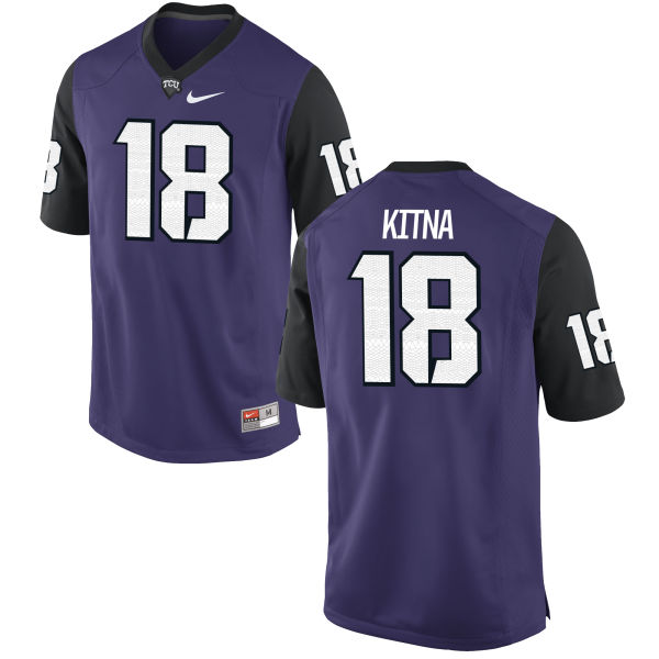 Men's Nike Jordan Kitna TCU Horned Frogs Replica Purple Football Jersey