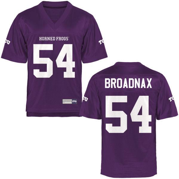 Men's Joseph Broadnax TCU Horned Frogs Replica Purple Football Jersey