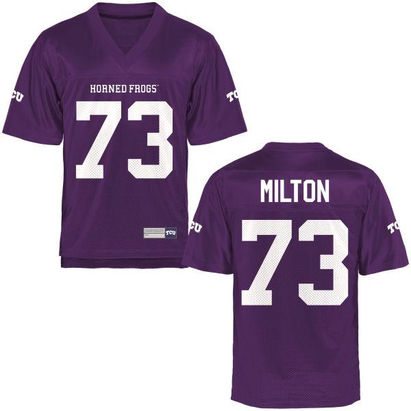 Men's Jozie Milton TCU Horned Frogs Game Purple Football Jersey