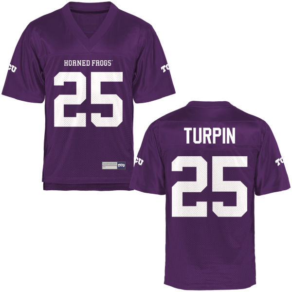 Youth KaVontae Turpin TCU Horned Frogs Game Purple Football Jersey