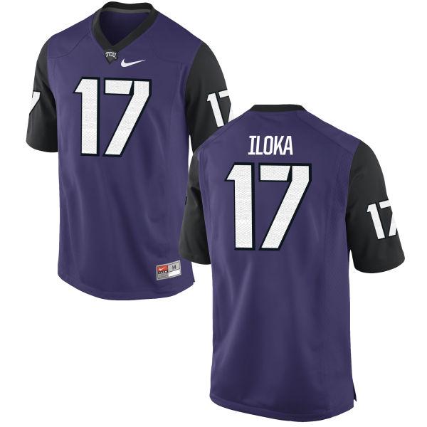 Men's Nike Kenny Iloka TCU Horned Frogs Replica Purple Football Jersey