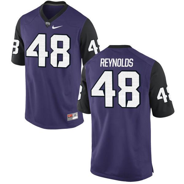 Men's Nike Lucas Reynolds TCU Horned Frogs Replica Purple Football Jersey