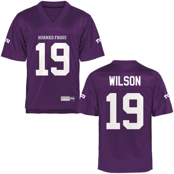 Men's Montrel Wilson TCU Horned Frogs Replica Purple Football Jersey
