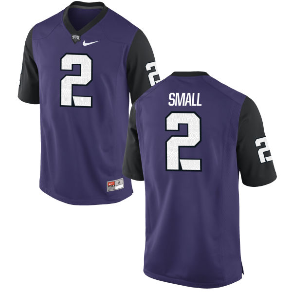 Men's Nike Niko Small TCU Horned Frogs Game Purple Football Jersey