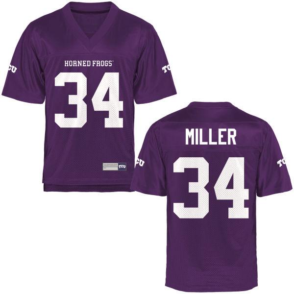 Men's Preston Miller TCU Horned Frogs Game Purple Football Jersey