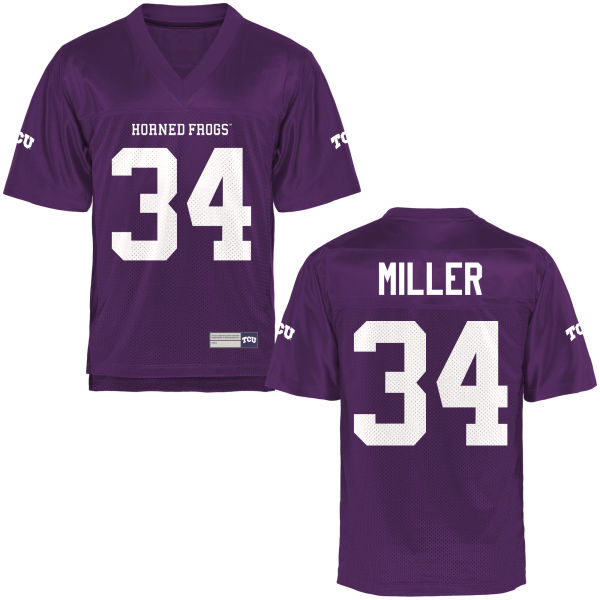 Youth Preston Miller TCU Horned Frogs Game Purple Football Jersey