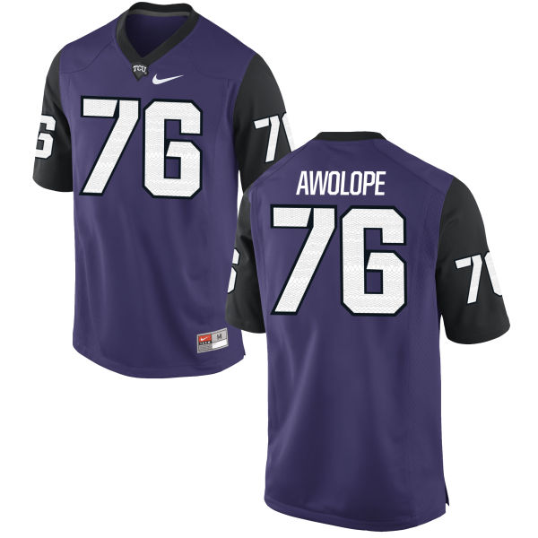 Men's Nike Sam Awolope TCU Horned Frogs Game Purple Football Jersey