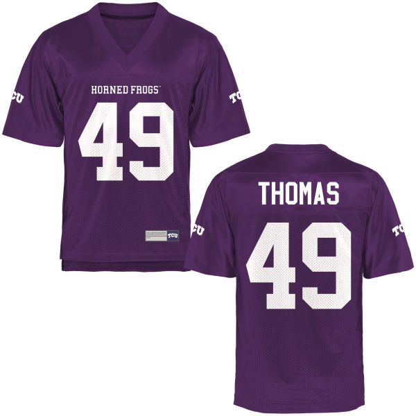 Men's Semaj Thomas TCU Horned Frogs Game Purple Football Jersey