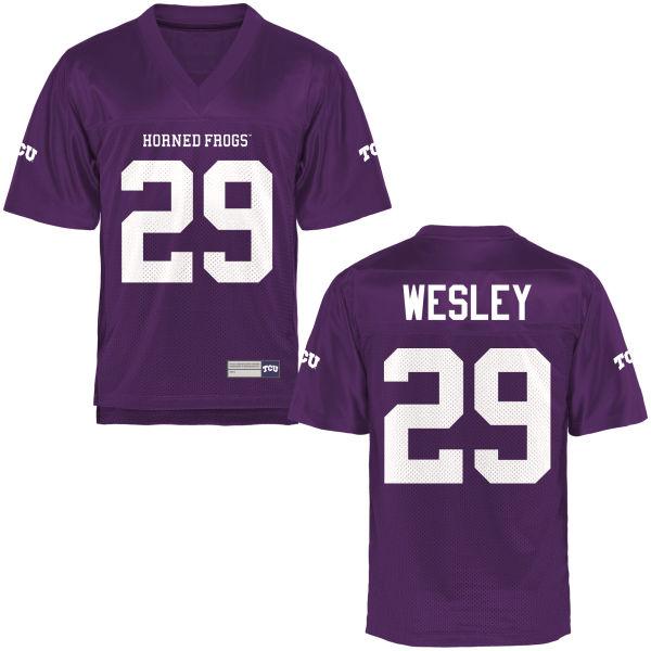 Men's Steve Wesley TCU Horned Frogs Replica Purple Football Jersey