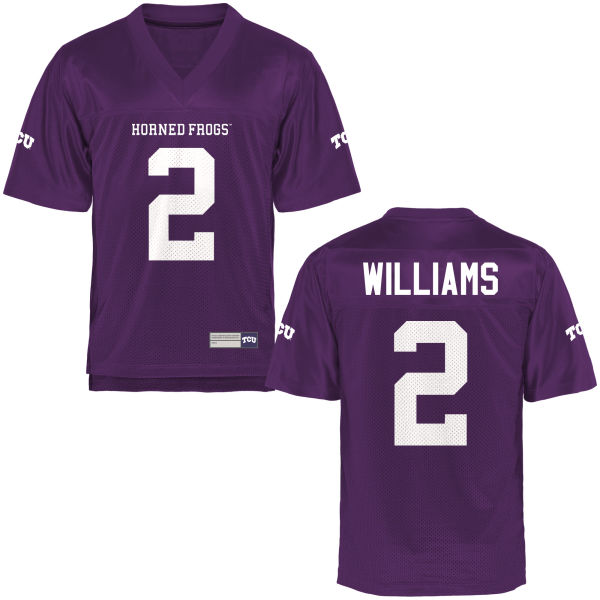 Youth Taj Williams TCU Horned Frogs Game Purple Football Jersey