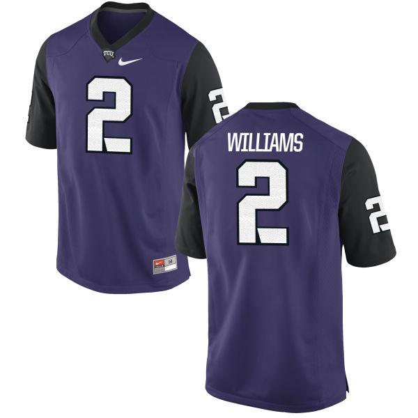 Youth Nike Taj Williams TCU Horned Frogs Game Purple Football Jersey