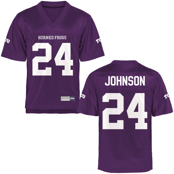 Men's Trevorris Johnson TCU Horned Frogs Replica Purple Football Jersey