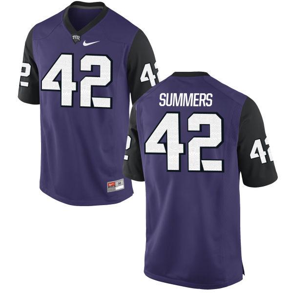 Men's Nike Ty Summers TCU Horned Frogs Replica Purple Football Jersey