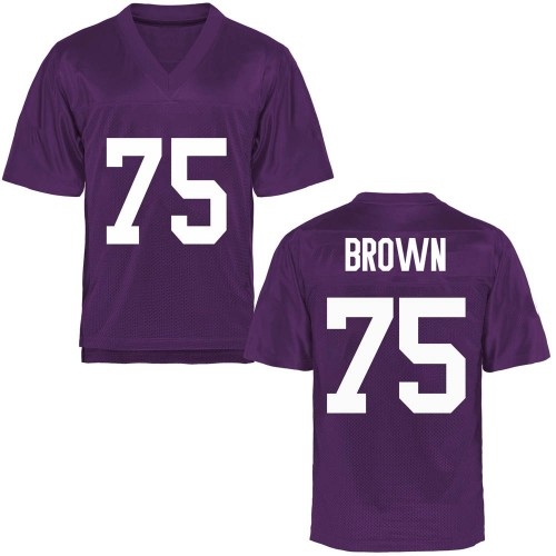 Men's Brannon Brown TCU Horned Frogs Game Purple Football College Jersey