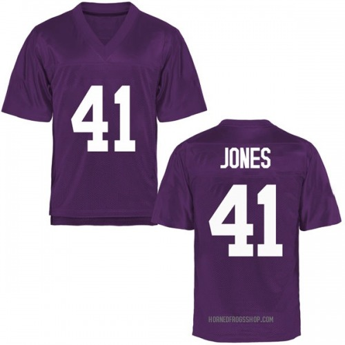 Men's Dillon Jones TCU Horned Frogs Replica Purple Football College Jersey