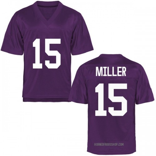 Men's JD Miller TCU Horned Frogs Game Purple Football College Jersey