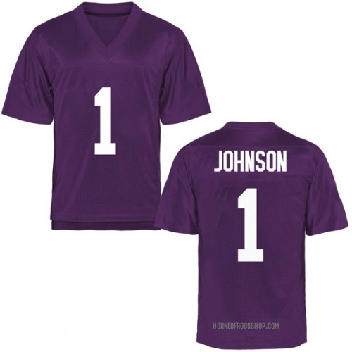 Men's Jawuan Johnson TCU Horned Frogs Game Purple Football College Jersey