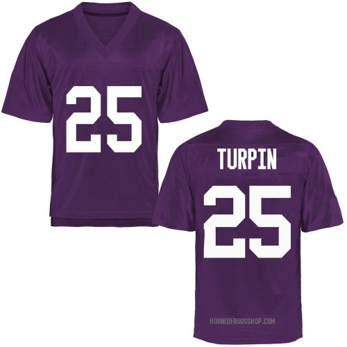 Men's KaVontae Turpin TCU Horned Frogs Replica Purple Football College Jersey