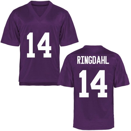 Men's Karson Ringdahl TCU Horned Frogs Game Purple Football College Jersey