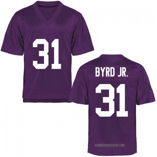 Men's Michael Byrd Jr. TCU Horned Frogs Replica Purple Football College Jersey