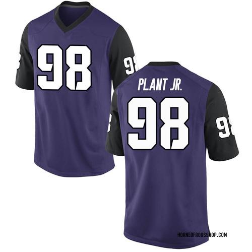 Men's Nike Adam Plant Jr. TCU Horned Frogs Replica Purple Football College Jersey